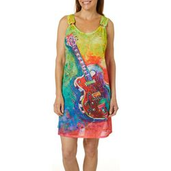 Leoma Lovegrove Womens Beach Music Ring Dress Cover-Up