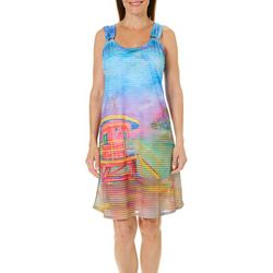 Leoma Lovegrove Womens Stingray Shuffle Ring Dress Cover-Up