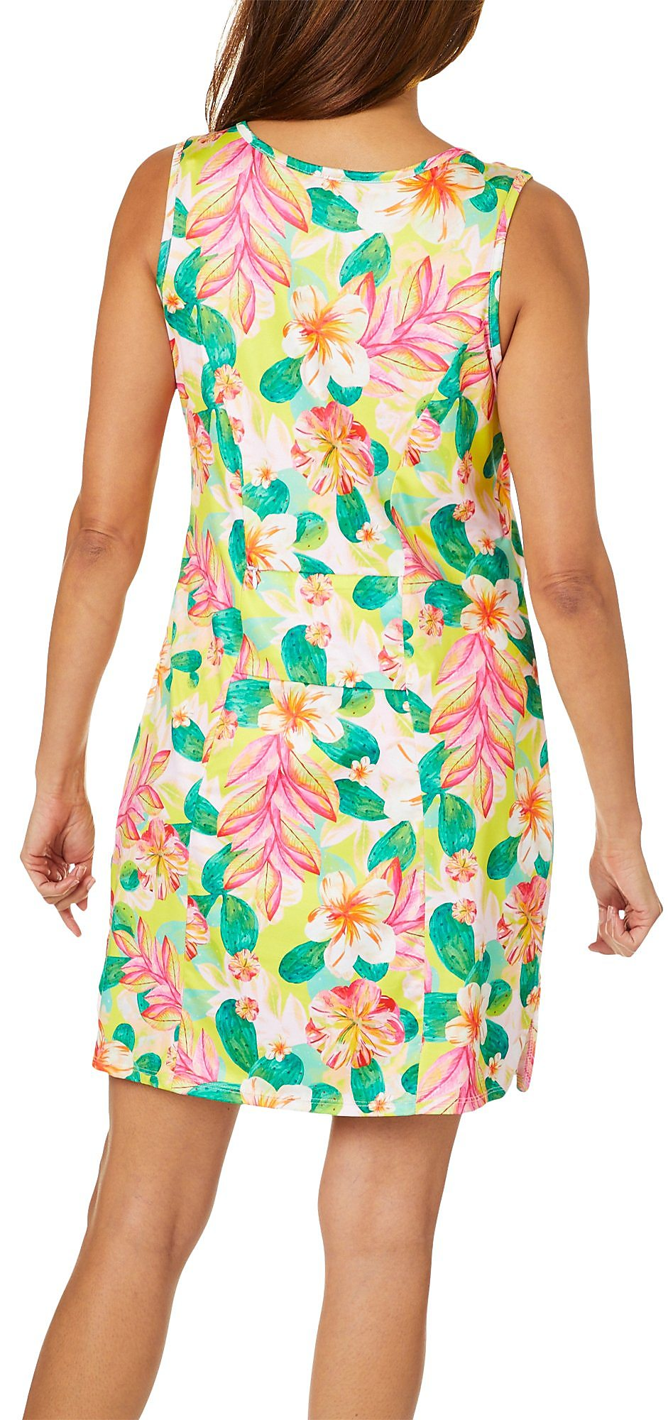 854ddb5b45 Paradise Bay Womens Cactus Flower Dress Swim Cover-Up | eBay