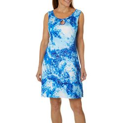 Paradise Bay Womens Shibori Dress Swim Cover-Up