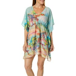 Leoma Lovegrove Womens Palms Away Woven Swim Cover-Up