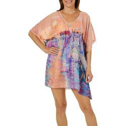 Leoma Lovegrove Womens Midnight Sun Bridge Swim Cover-Up