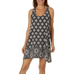 Pacific Beach Womens Mandala High Back Dress Cover-Up