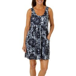 Pacific Beach Womens Tie Dye Swim Cover-Up