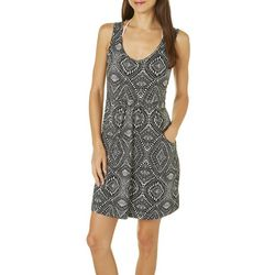 Pacific Beach Womens Tribal Diamond Cover-Up Dress