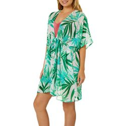 Pacific Beach Plus Tropical Empire Waist Swim Cover-Up