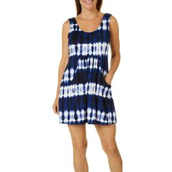 Pacific Beach Womens Deep Pocket Dress Swim Cover-Up
