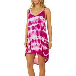 Hawaiian Tropic Womens Tie Dye Dress Racerback Swim Cover-Up