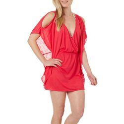 Hawaiian Tropic Cold Shoulder Burnout Dress Cover-Up