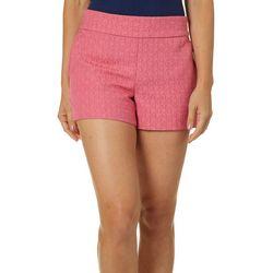 Dept 222 Womens Solid Jaquard Shorts