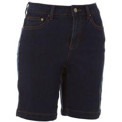 Dept 222 Womens Solid Denim Shorts