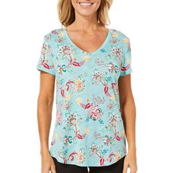 Dept 222 Womens Whimsical Floral T-Shirt
