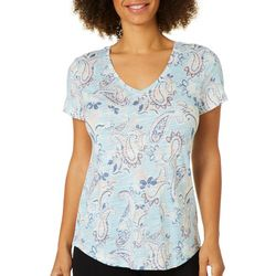Dept 222 Womens Striped Paisley Luxey Top