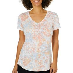 Dept 222 Womens Tie Dye Medallion Luxey Top