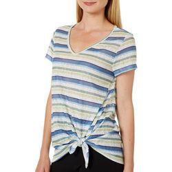 Dept 222 Womens Striped Side Tie Top