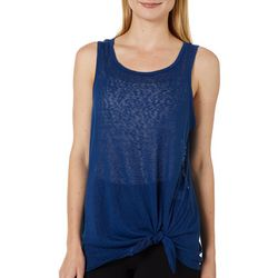Dept 222 Womens Solid Side Tie Sleeveless Top
