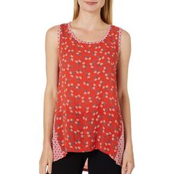 Dept 222 Womens Floral Geomtric Panel Sleeveless Top
