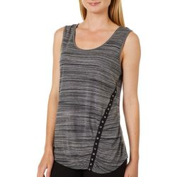 Dept 222 Womens Space Dyed Sleeveless Top