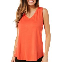 Dept 222 Womens Solid Crochet Back Sleeveless Top
