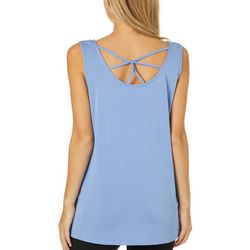 Dept 222 Womens Solid Caged Back Sleeveless Top