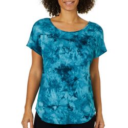 Dept 222 Womens Tie Dye Criss Cross Back Top