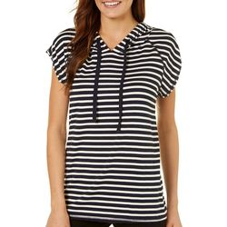 Dept 222 Womens Striped Hooded T-Shirt