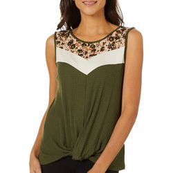 Dept 222 Womens Mixed Print Sleeveless Top