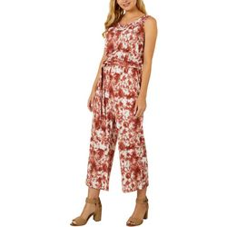 Dept 222 Womens Tie Dye Belted Maxi Sleeveless Dress