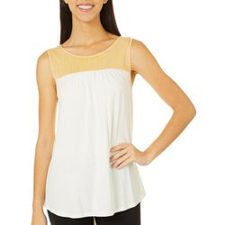 Dept 222 Womens Striped Keyhole Back Tie Top
