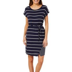 Dept 222 Womens Striped Tie Waist Sundress