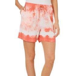 Dept 222 Womens Tie Dye Pull On Shorts