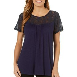 Dept 222 Womens Vintage Garden Lace Yoke Top