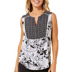 Dept 222 Womens Tropical Floral Medallion Top