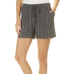 Dept 222 Womens Medallion Print Pull On Shorts