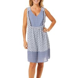Dept 222 Womens Mixed Medallion Print Sundress