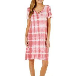 Dept 222 Womens Amber Dreams Tie Dye Crisscross Sundress