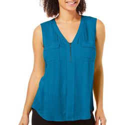 Dept 222 Womens Paradise Dreams Zip Neck Top