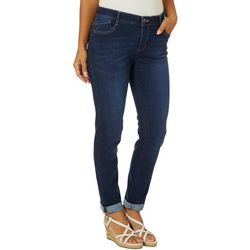 Dept 222 Womens Roll Cuff Ankle Denim Jeans
