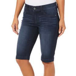 Dept 222 Womens Whiskered Denim Bermuda Shorts