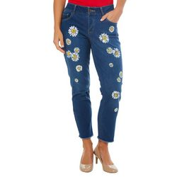 Dept 222 Womens Floral Ankle Jeans