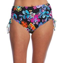 Ocean Avenue Womens Folk Garden High Waist Swim Bottoms