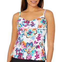 Ocean Avenue Womens Folk Garden Tankini Top