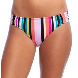Reaction Womens Bloomin' Stripe Hipster Swim Bottoms