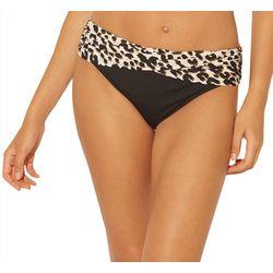 Bleu Rod Beattie Womens Cheetah Foldove Hipster Swim Bottoms