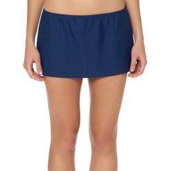 Ellen Tracy Womens Solid Mid Swim Skirt