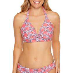Aqua Couture Womens Arabesque Halter Bikini Top