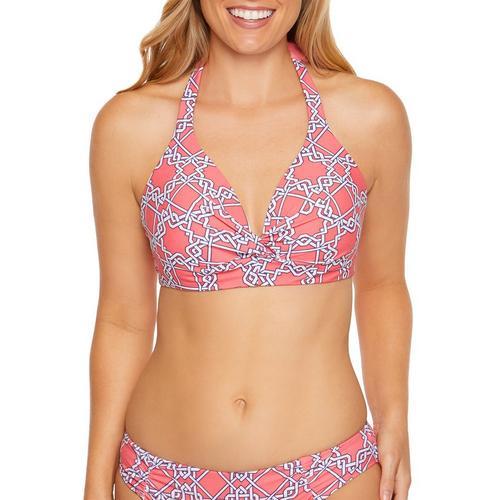 fb4b8c60199 Aqua Couture Womens Arabesque Halter Bikini Top