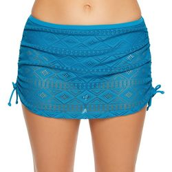 Aqua Couture Womens Mojava Diamond Crochet Swim Skirt