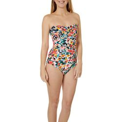 Anne Cole Signature Womens Sunset Floral One Piece Swimsuit