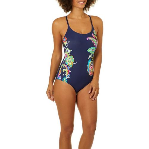 770f501d6b Anne Cole Signature Womens Paisley Pom One Piece Swimsuit